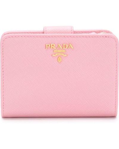 Кожаный кошелек на молнии мини Prada