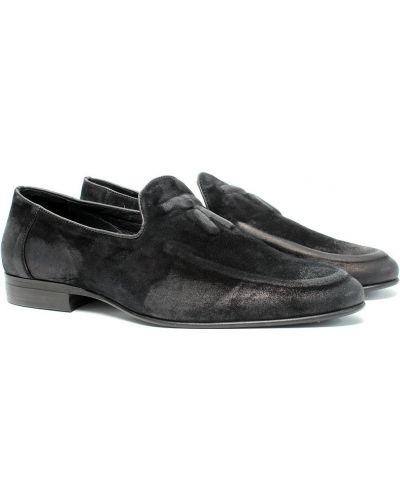 Замшевые туфли - черные Stepter