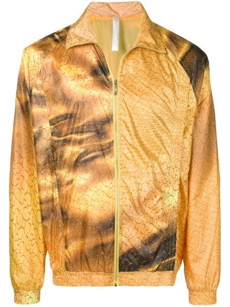 Złota żółta długa kurtka z długimi rękawami Cottweiler