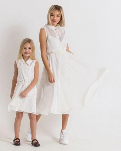 Шифоновое белое платье без рукавов Vovk