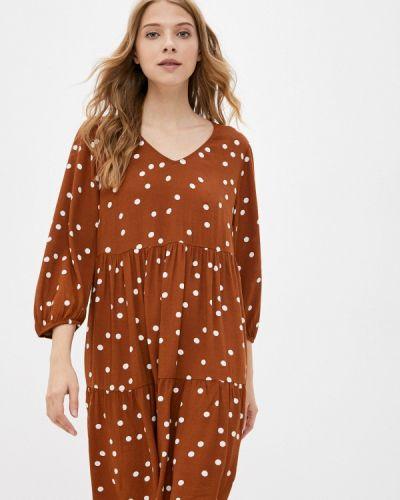 Джинсовое платье - коричневое Tom Tailor Denim