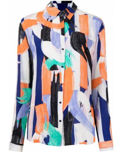 Длинная рубашка классическая с воротником с принтом Armani Exchange