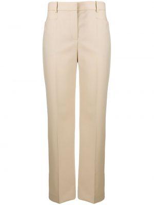 Шерстяные брюки с воротником с карманами с высокой посадкой Joseph