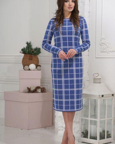 Платье шерстяное синее Vay