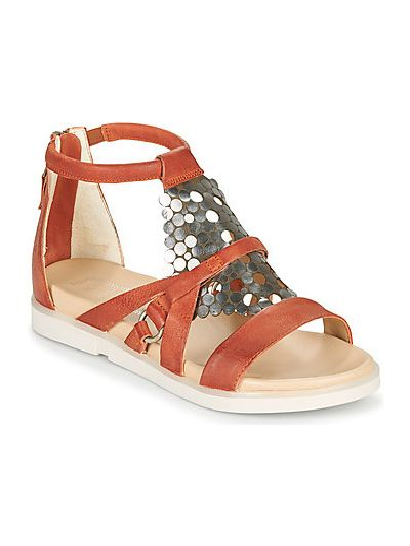 Czerwone sandały Mjus