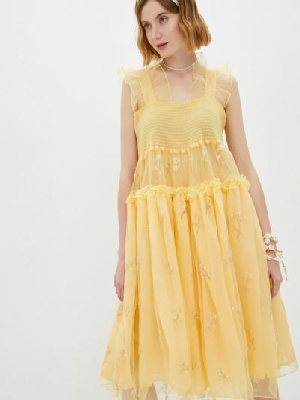 Желтое вечернее платье Sister Jane