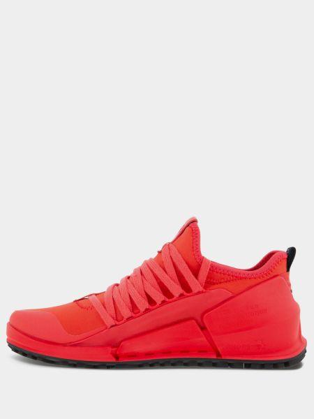 Красные кожаные кроссовки беговые для бега Ecco