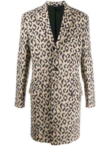 Płaszcz z wiskozy z długimi rękawami z printem Lc23