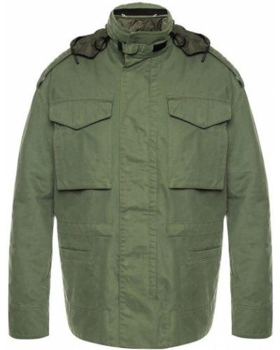 Zielona kurtka pikowana na rzepy Off-white