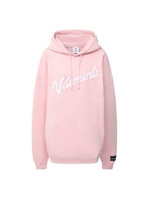 Хлопковая розовая толстовка Vetements