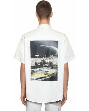Biała klasyczna koszula krótki rękaw bawełniana Calvin Klein Established 1978