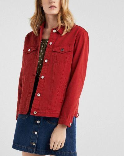 Джинсовая куртка весенняя красная Springfield