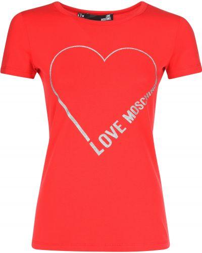 Футболка красный Love Moschino