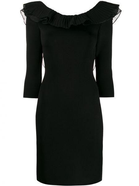 Czarna sukienka mini z jedwabiu Antonino Valenti