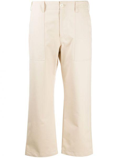 Хлопковые укороченные брюки с высокой посадкой на молнии Jejia