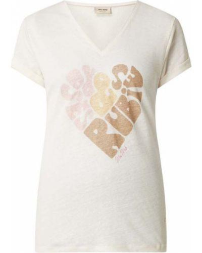 T-shirt z printem - beżowa Mos Mosh