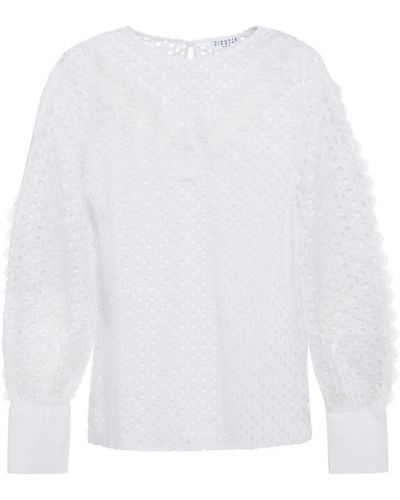 Хлопковая блузка - белая Claudie Pierlot