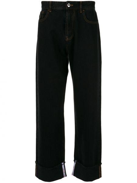 Czarne jeansy z haftem bawełniane Gcds
