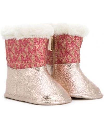 Сапоги розовый кожаный Michael Kors Kids