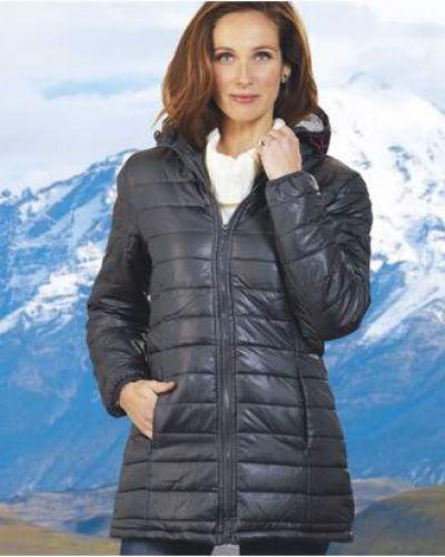 Приталенная серая стеганая куртка с карманами с декоративной отделкой Atlas For Men