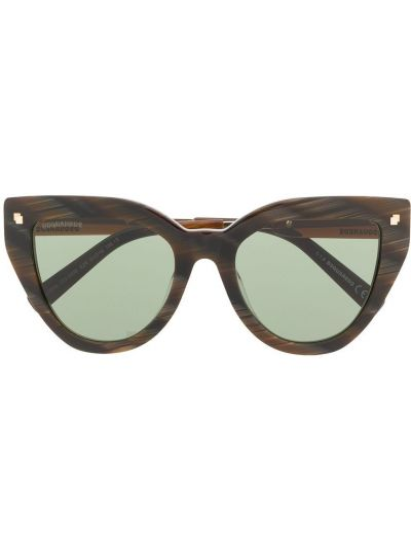 Солнцезащитные очки металлические хаки Dsquared2 Eyewear