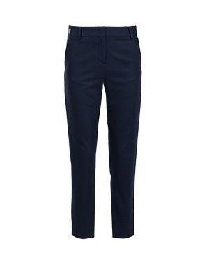 Укороченные брюки синие Eleventy