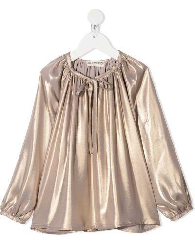 Прямая желтая с рукавами блузка Anja Schwerbrock Kids