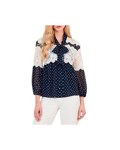 Синяя блузка Luisa Spagnoli