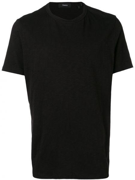 Koszula krótkie z krótkim rękawem wyposażone czarna Theory