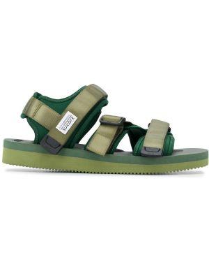 Сандалии на липучках - зеленые Suicoke