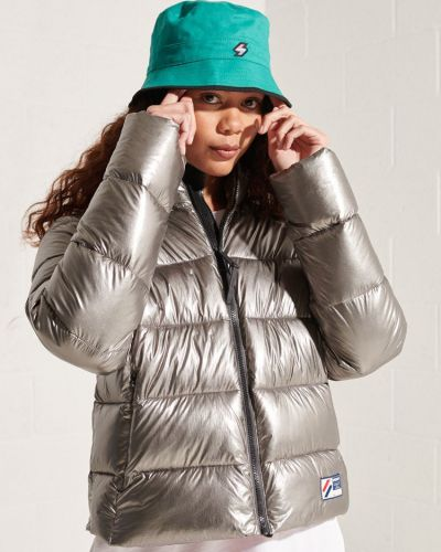 Дутая куртка - серебряная Superdry