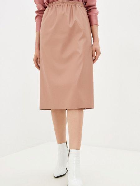 Кожаная юбка розовая весенняя Akhmadullina Dreams