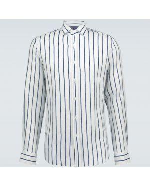 Фиолетовая льняная рубашка с воротником Ralph Lauren Purple Label