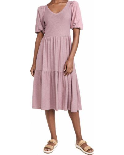 Текстильное платье с декольте Nation Ltd