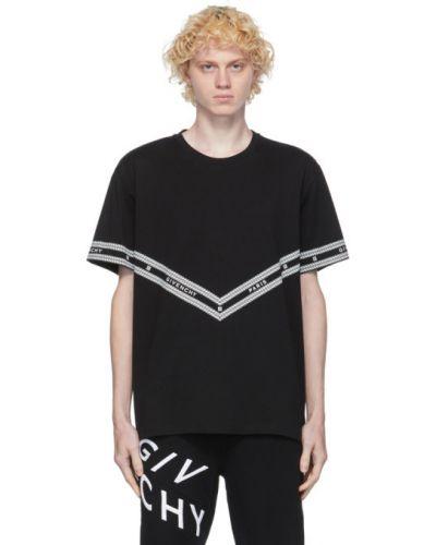 Bawełna czarny koszula krótkie z krótkim rękawem z kołnierzem krótkie rękawy Givenchy