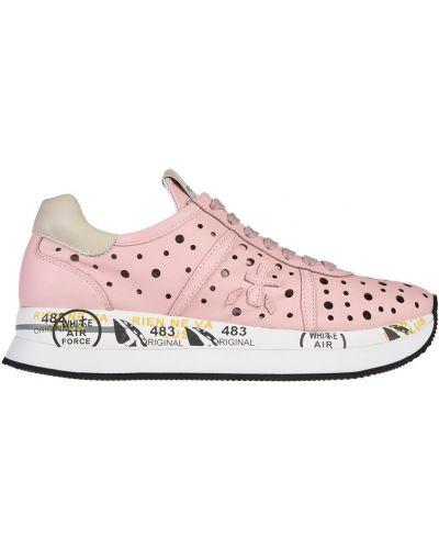 Кроссовки с перфорацией розовый Premiata