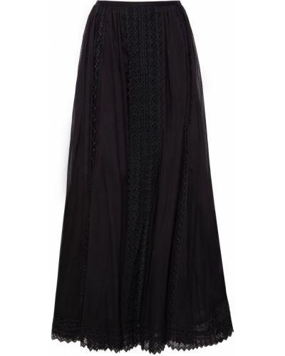 Хлопковая юбка макси - черная Charo Ruiz Ibiza