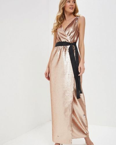 Вечернее платье осеннее золотой Tutto Bene