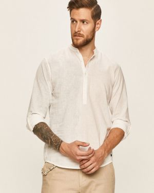 Koszula z długim rękawem dżinsowa niebieski Tom Tailor Denim