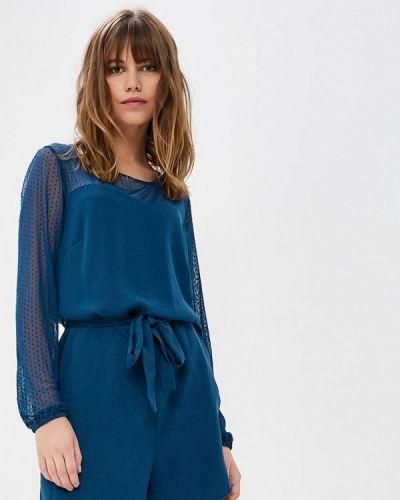 Синий комбинезон с шортами Vero Moda