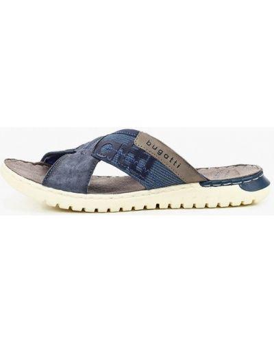 Синие текстильные сандалии Bugatti