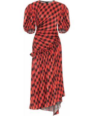 Платье с цветочным принтом красно-черное Preen By Thornton Bregazzi