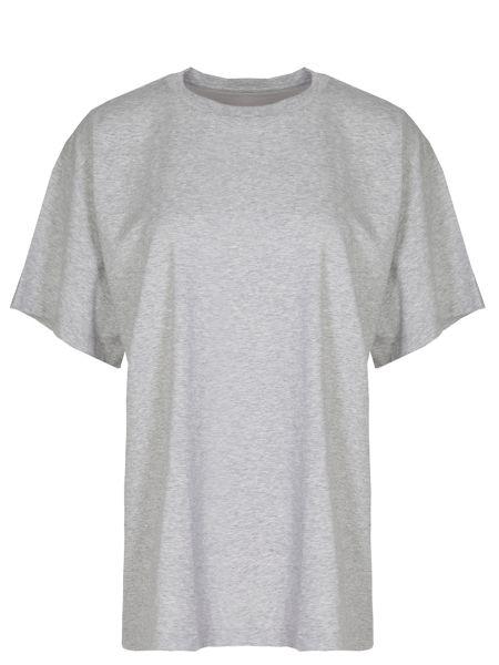 Хлопковая футболка - серая Mm6