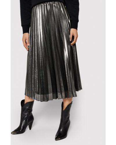 Spódnica plisowana srebrna Pennyblack