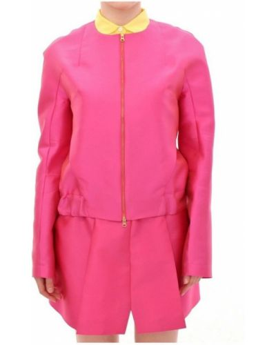 Różowa kurtka z jedwabiu Cote