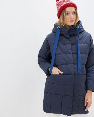 Утепленная куртка - синяя мамуля красотуля ..в ожидании чуда