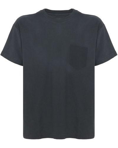 Czarna t-shirt bawełniana Flaneur Homme
