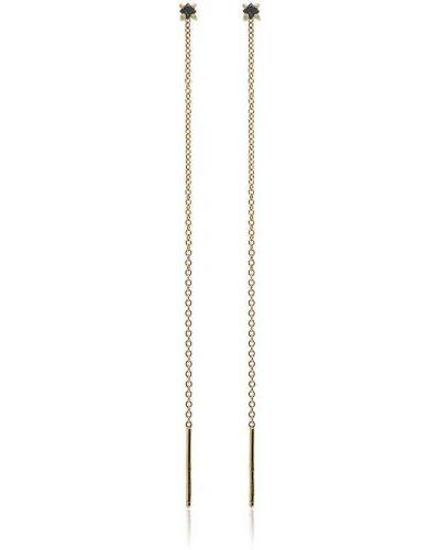 Серьги-гвоздики серьги-кольца золотые Lizzie Mandler Fine Jewelry
