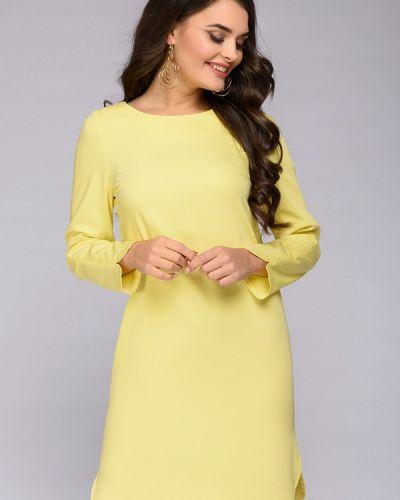 Платье осеннее желтый 1001dress