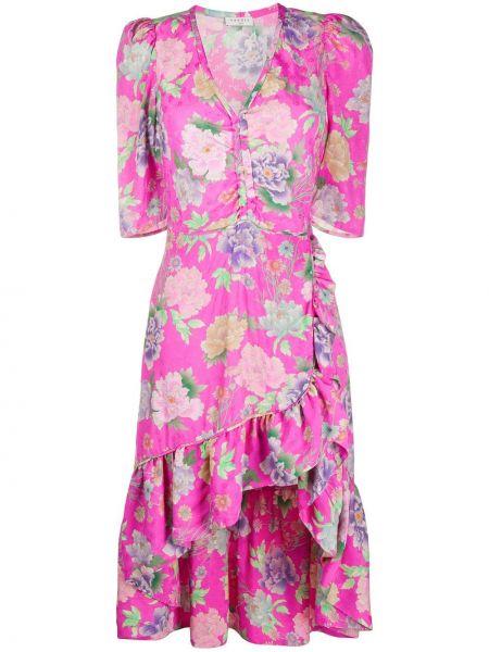 Платье мини миди с цветочным принтом Sandro Paris